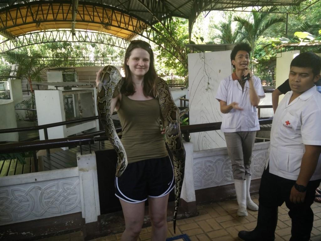 Lovely burmese python & me.