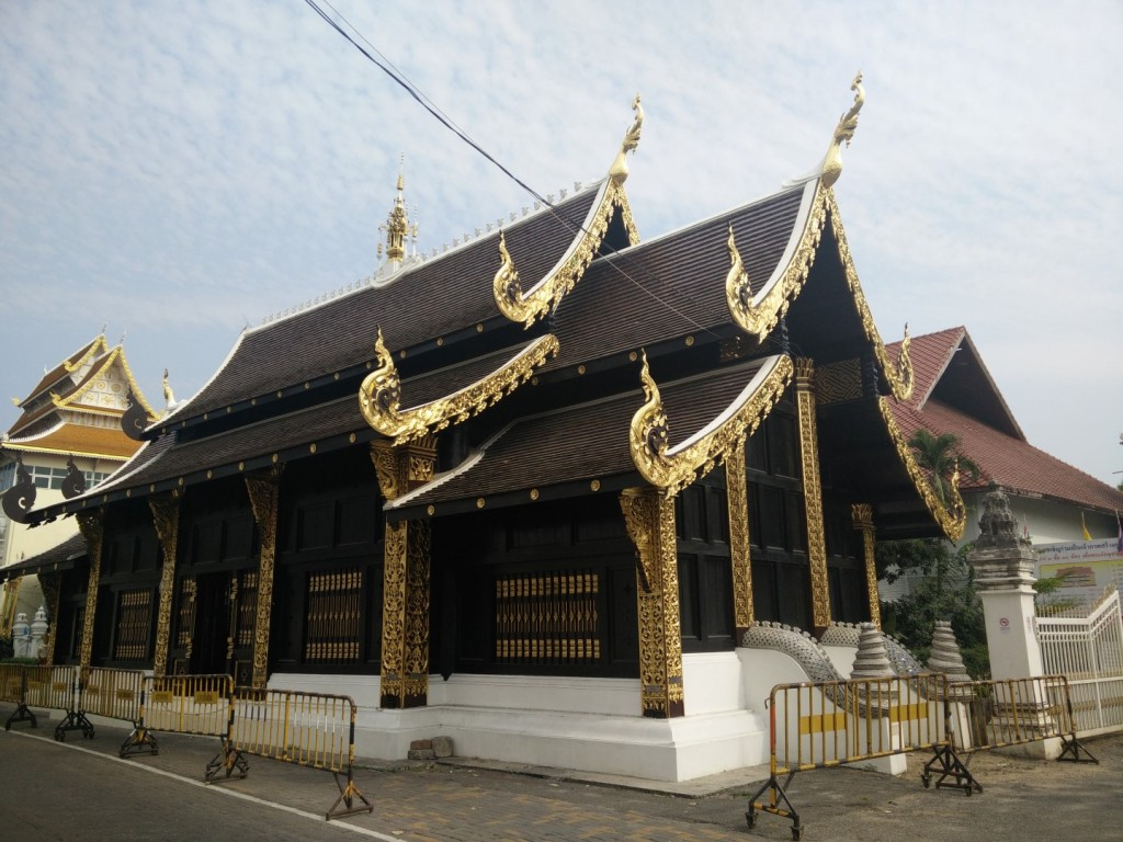 Unusual Chiang Mai temple - they are mostly very colorful, not dark like this one.