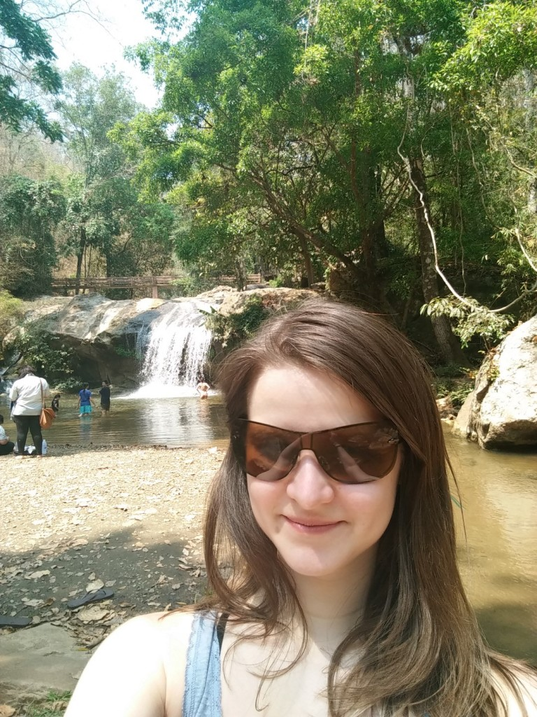 Can't miss a selfie with a waterfall.