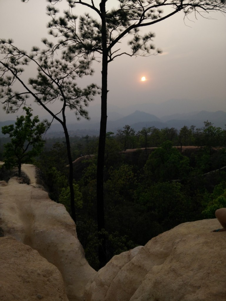 Sunset at the Pai canyon.