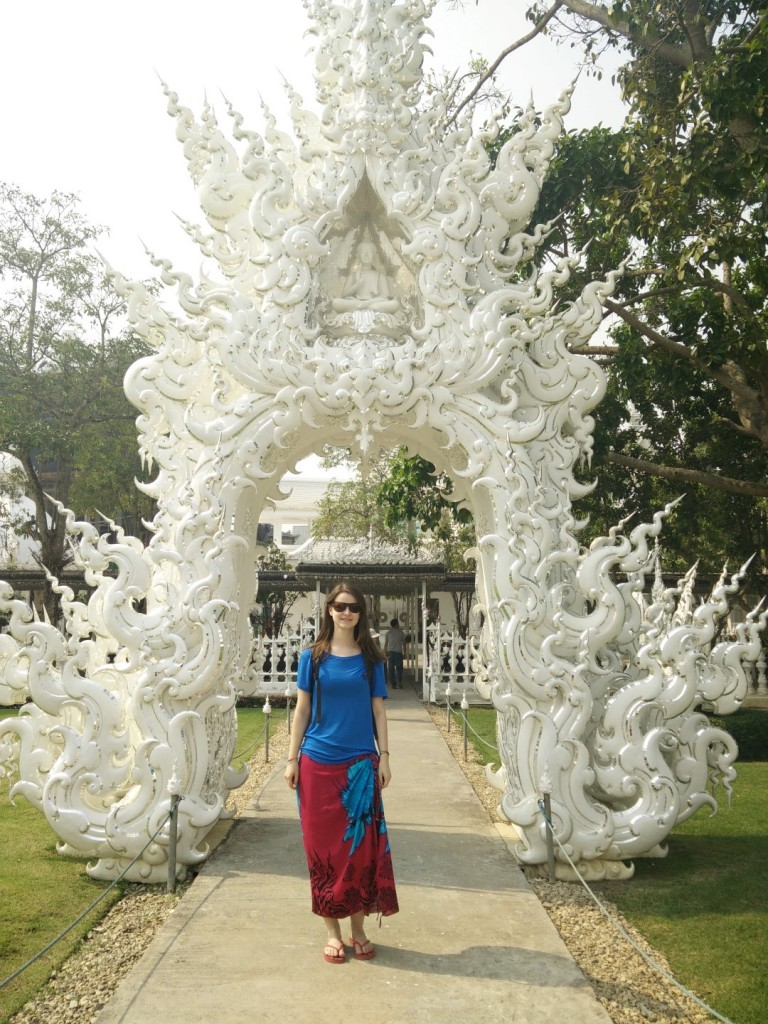 At one of the White Temple gates.