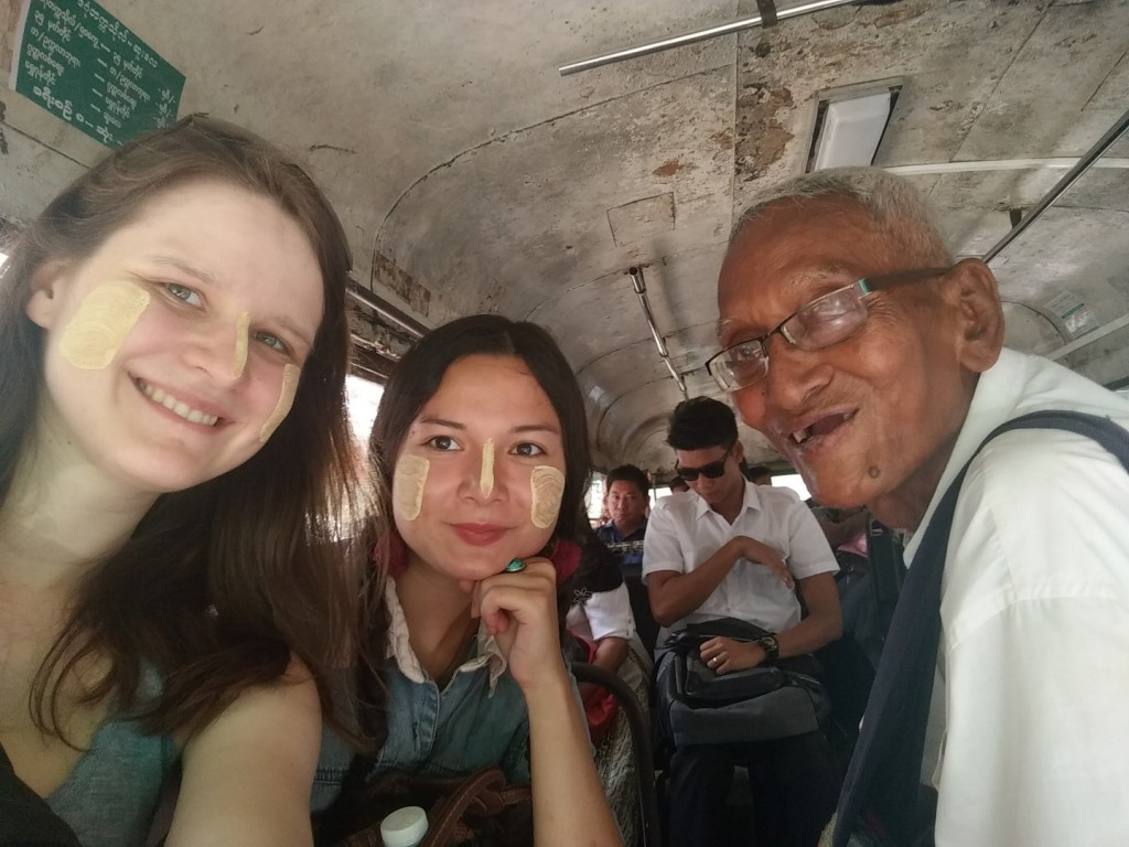 Lia & me with our Yangon tour guide, Momo.