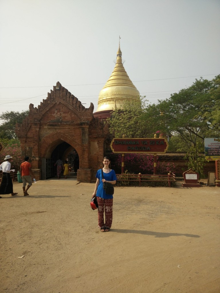 At one of Bagan's pagodas.