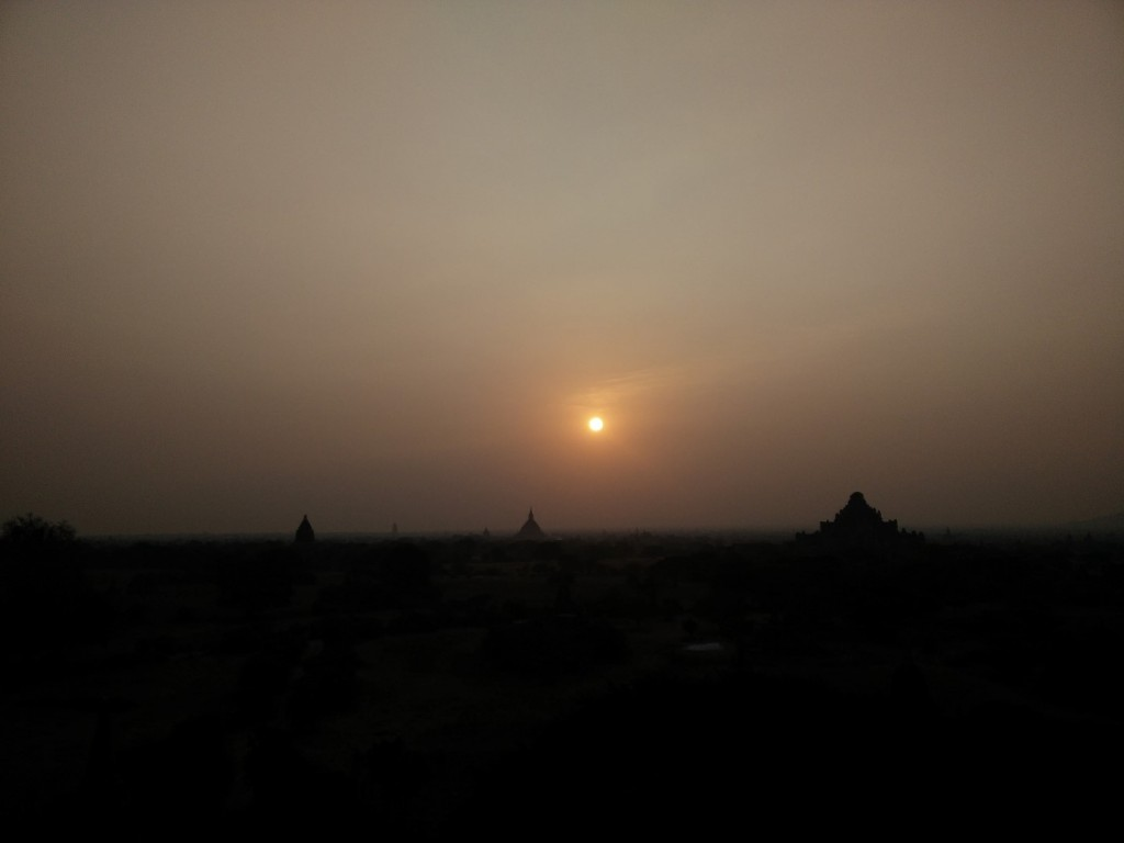 The sunrise over Bagan.