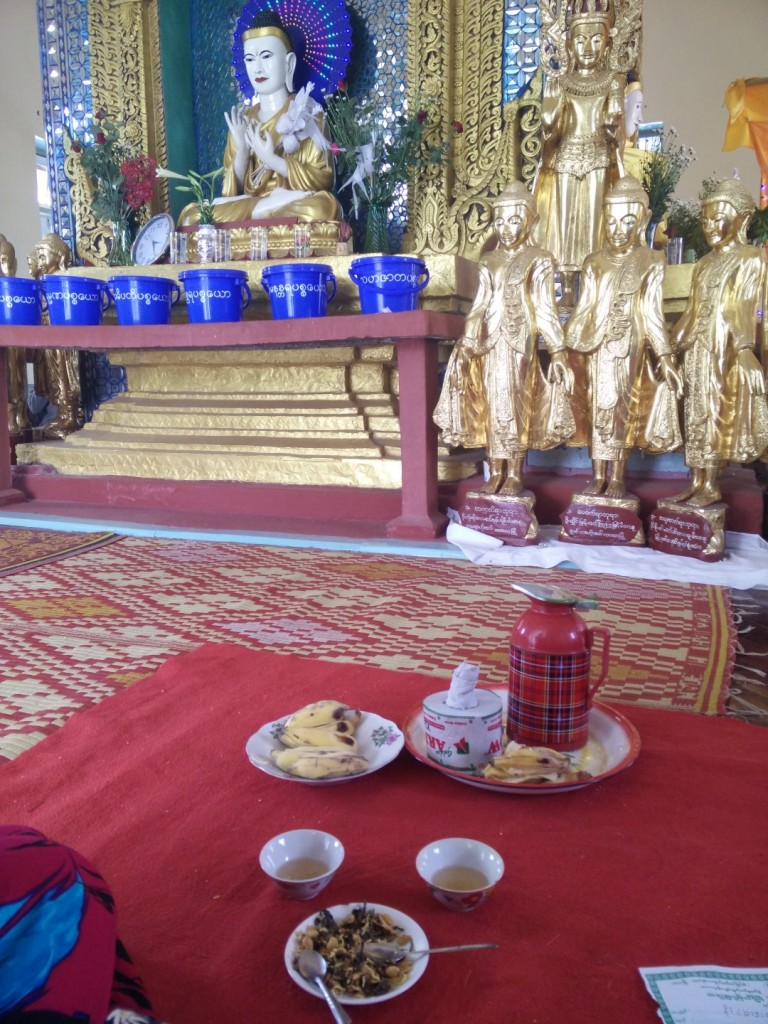 The food we were offered in the temple in Kalaw.