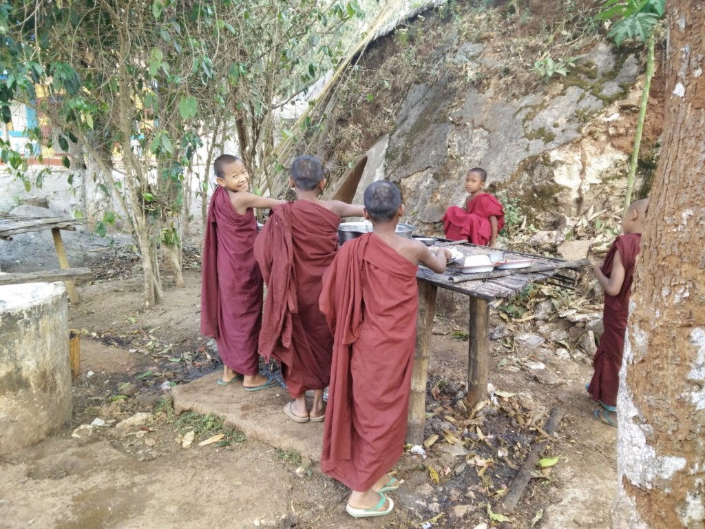 Young monks from the tribe villages.