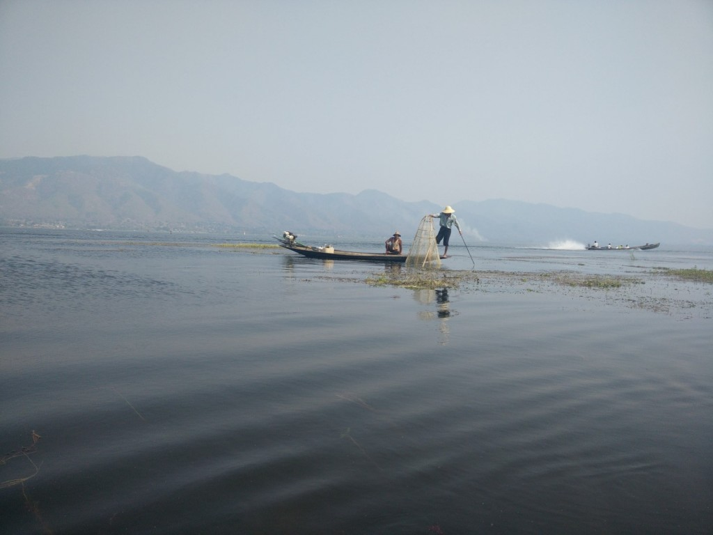 Fishermen at Inle Lake.