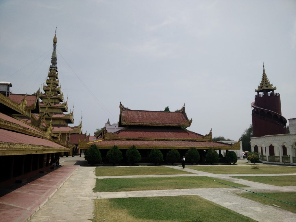 Part of the royal palace in Mandalay.