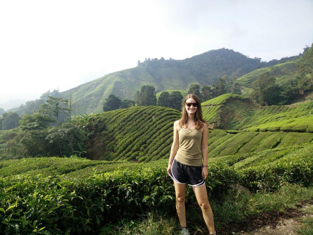 At the Cameron Highlands' tea plantations.