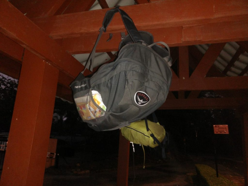 This is how you shield your backpack from the rain :)