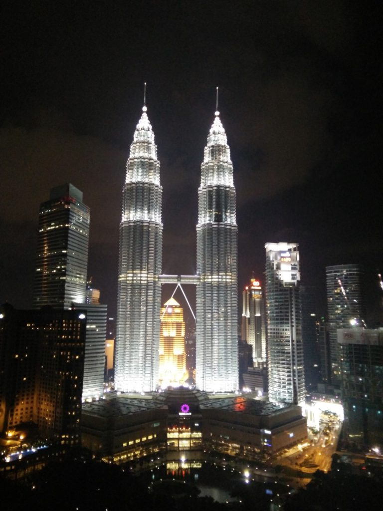 View of the Petronas twin towers.