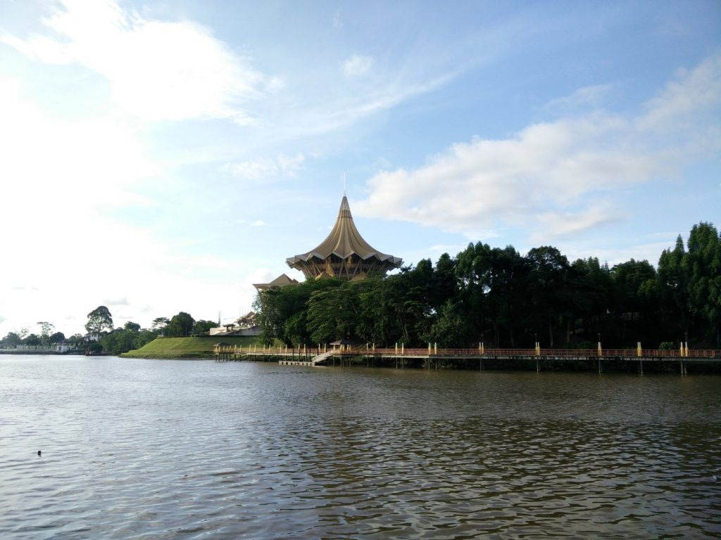 Kuching's waterfront.