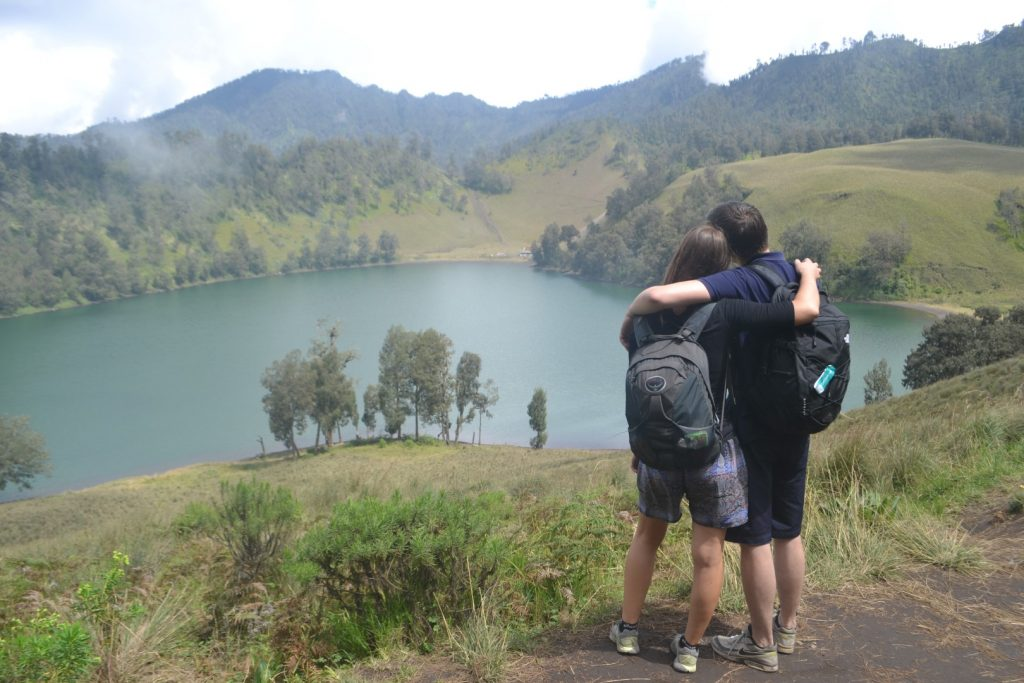 The lake we crossed on the first day of going to Semeru.