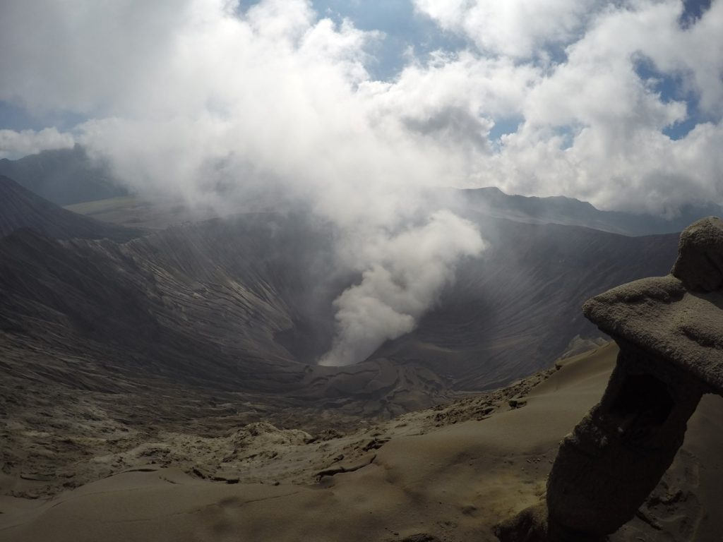 The edge of Bromo's crater.