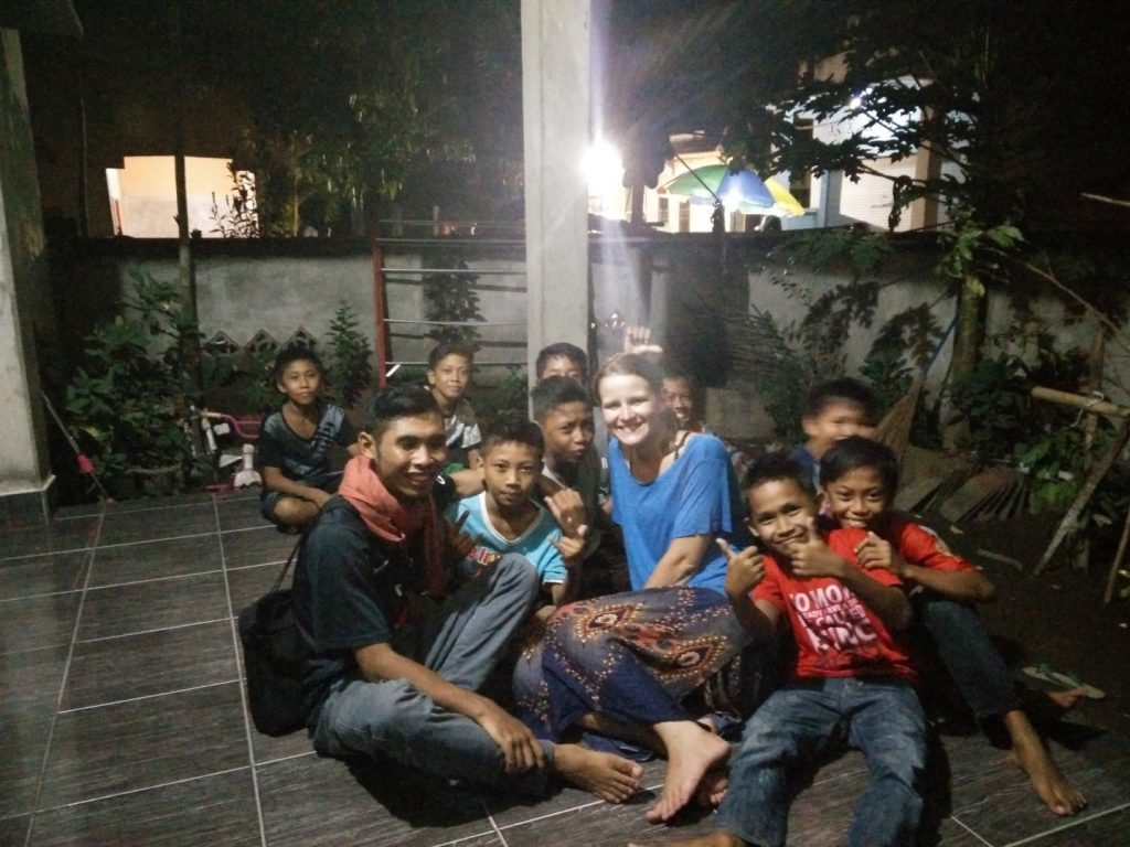 Puja, me & local boys.