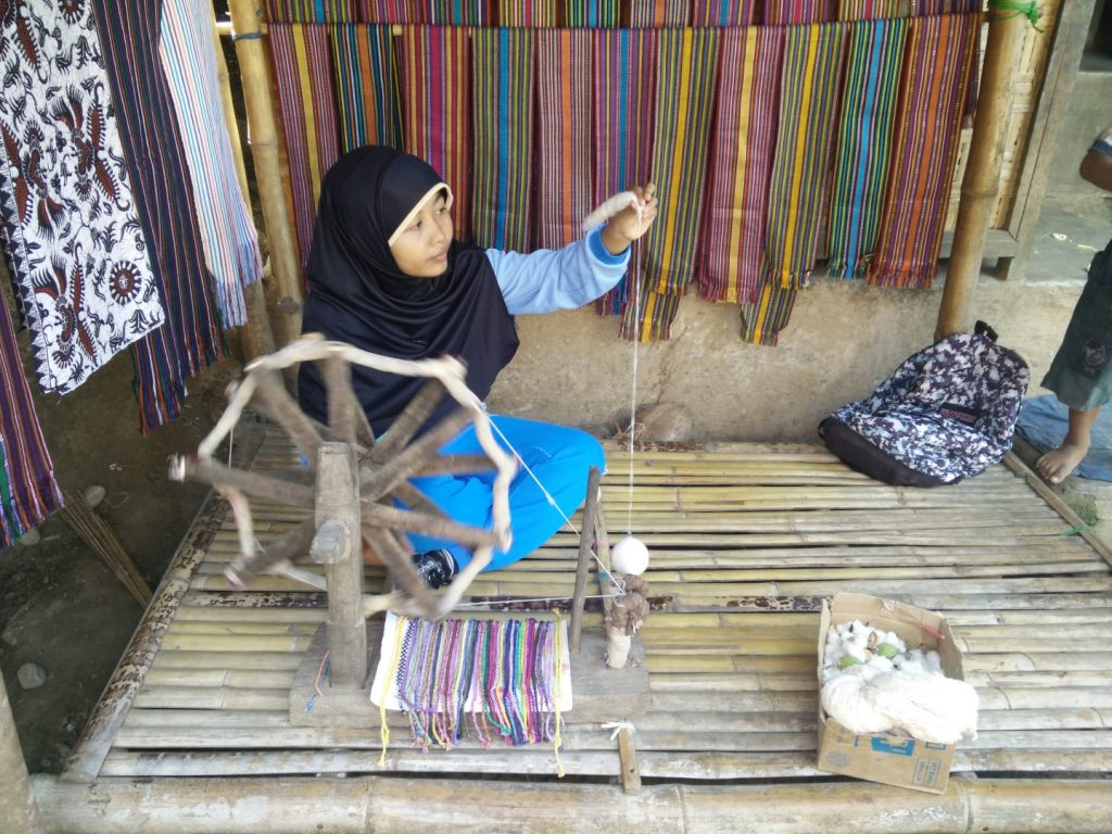 Cotton making.