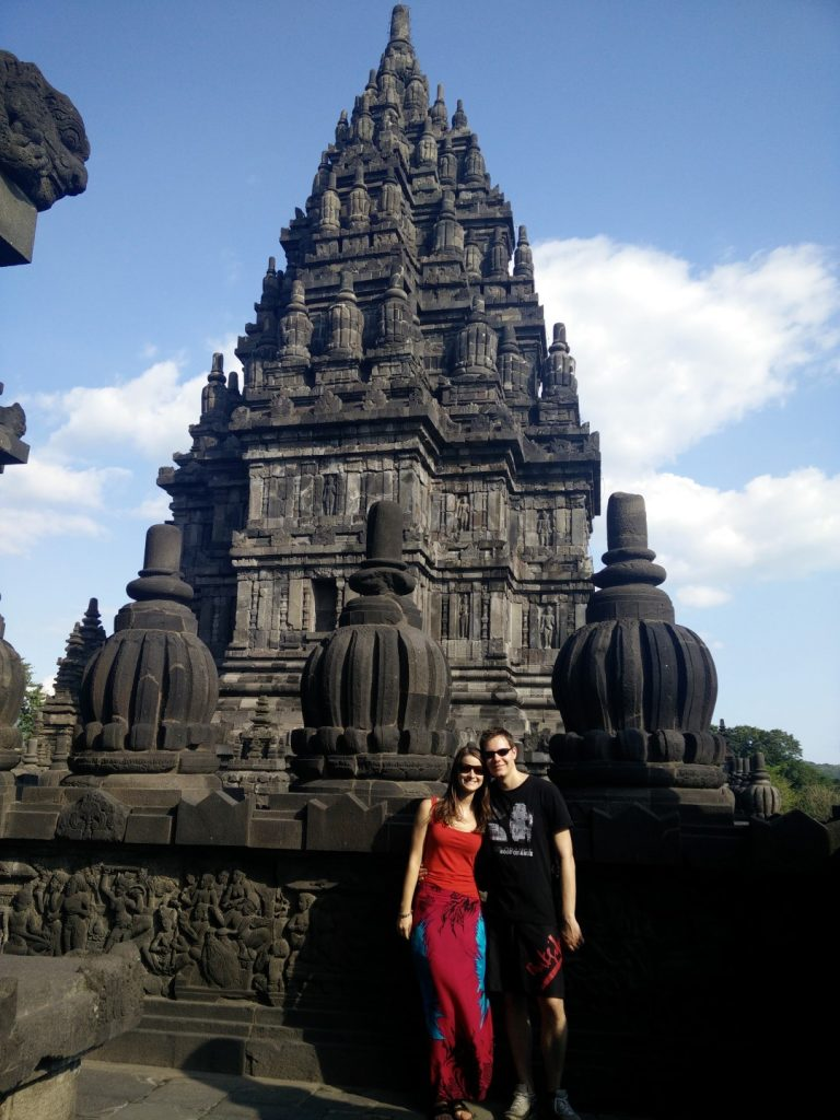 Barry & me at Prambanan.