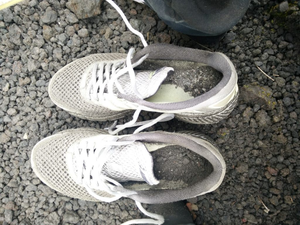 The dirt in my shoes after descending Semeru.