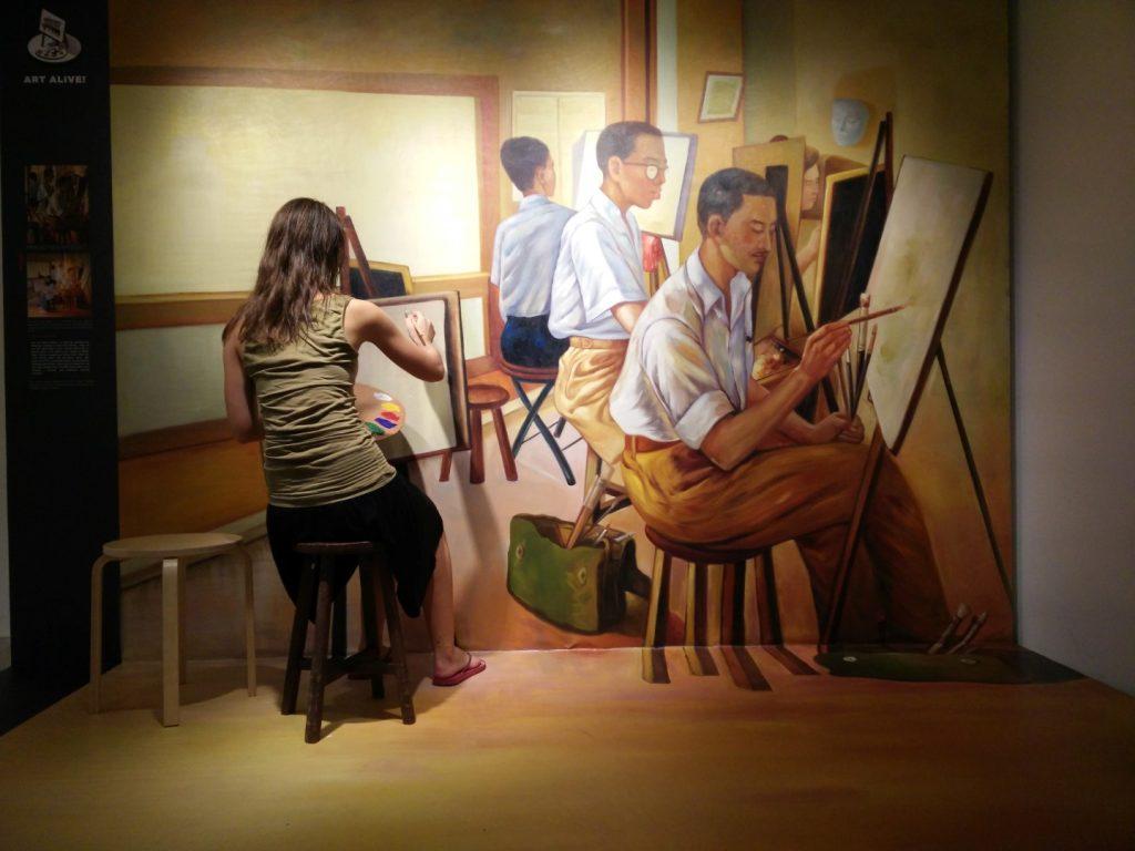 An art class I took.