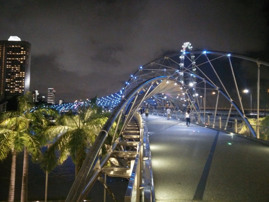 Singapore's helix bridge.