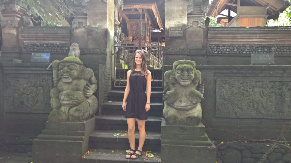 Me in front of one the monkey sanctuary temples.