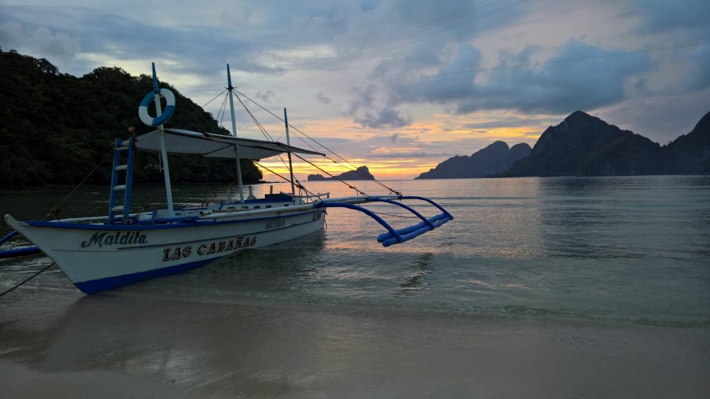 Beautiful sunset at El Nido.