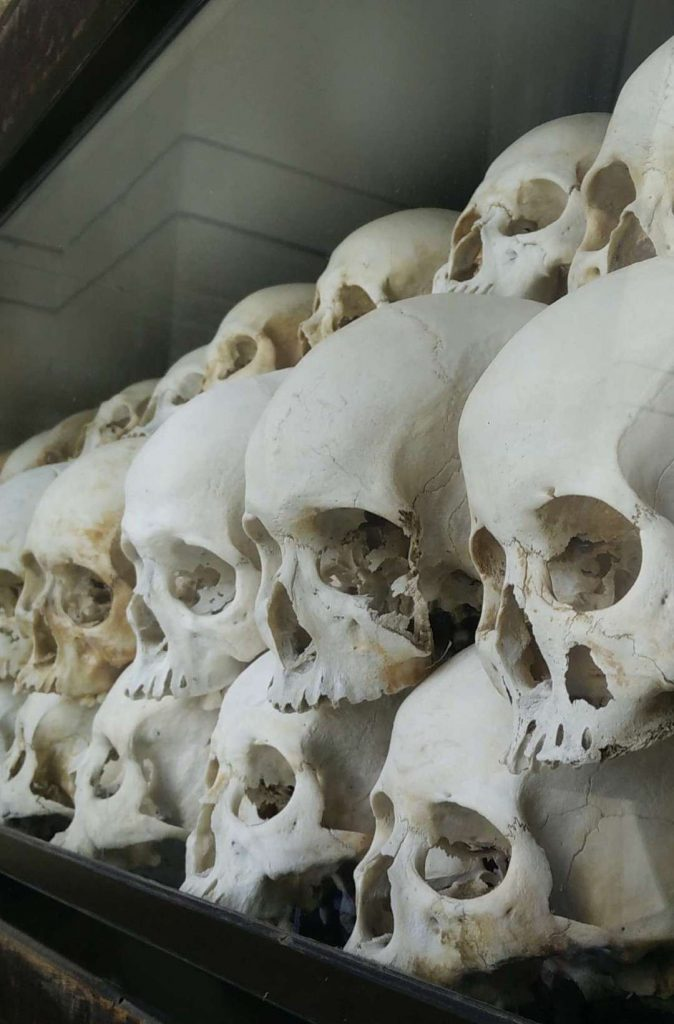 Skulls found at the killing fields.