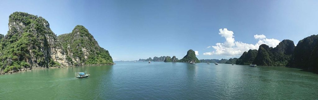 Tiny part of the beautiful Halong Bay.