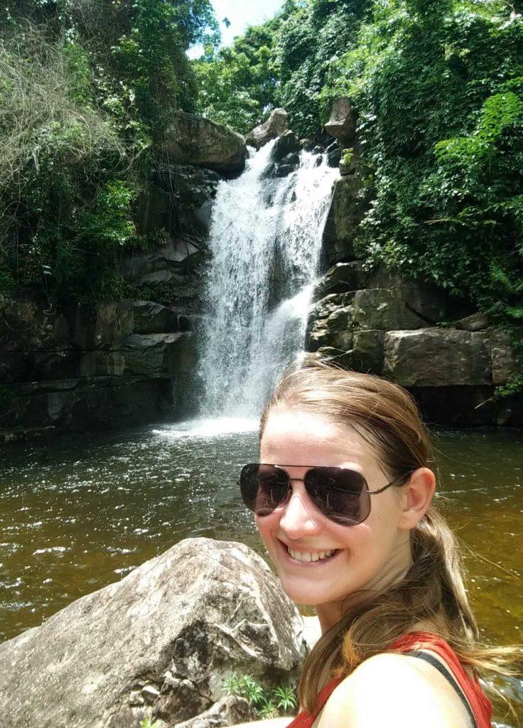 Waterfall selfie.